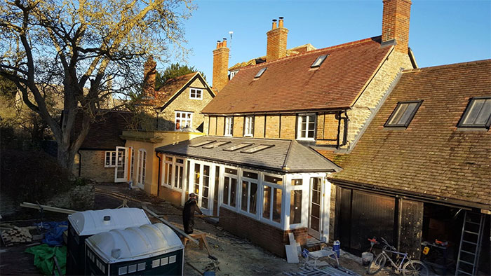 Renovation, carpentry, listed building, building, construction, sunroom, orangery
