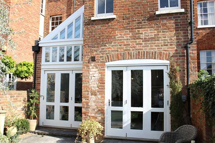 bi-fold, timber conservatory, conservatory, joinery, carpentry, doors, door